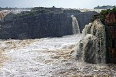 Raneh falls during monsoon period, India