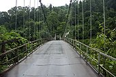 Suspension bridge on a border to Sikkim, India
