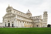 Italy, Tuscany, Pisa, Pisa Cathedral and Leaning Tower of Pisa