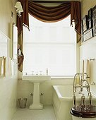 Traditional Bathroom with White Tile
