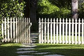 Open Gate in Picket Fence