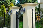 Wrought iron entance gate