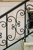 Wrought Iron Scrollwork on a Railing in Savannah