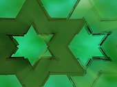 Close-up of star shape pattern on a green background