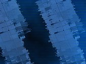 Close-up of an abstract pattern on a blue background