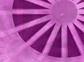 Close-up of a wheel on a purple background