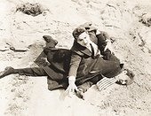Man pinned to the ground during fight
