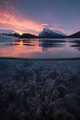 Vermilion Lake in winter at sunrise, Banff National Park, Alberta, Canada