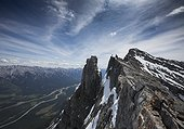 Summit of Mount Rundle, Banff National Park, Kananaskis Country, Alberta, Canada
