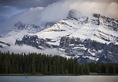 Two Jack Lake and Mount Rundle, Banff National Park, Alberta, Canada