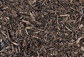 Full frame image of decorative chopped bark used for mulch and weed suppression