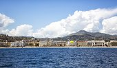 Lanscape, Nice from the water, with mountains and blue skies
