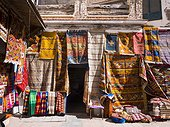 Carpet dealers in the historic centre, Unesco World Heritage Site, Essaouira, Morocco, Africa