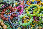 Shanghai, China.. Beads for sale at a tourist market in Shanghai, China.