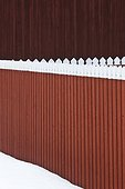 Wooden wall and fence